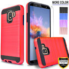 For Samsung Galaxy A6 J4 Plus J2 Core Shine Pure Case +Tempered Glass Protector