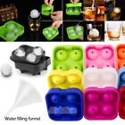 Whiskey Ice Cube Ball Maker Mold Four Large Sphere Mould Party Tray Bar Silicone $5.39 USD on eBay