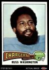 1975 Topps #335 Russ Washington Chargers NM/MT $2.65 USD on eBay