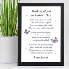Personalised Fathers Day Memorial Bereavement Poem Keepsake Gifts Dad Grandad