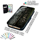 Old Steam Engine Train Wreck Abandoned - Leather Flip Wallet Phone Case Cover