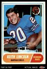 1968 Topps #19 Keith Lincoln Bills EX $1.3 USD on eBay