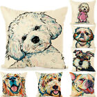 Retro Dog Art Pitbull Cushion Cover Square Throw Pillow Case Sofa Couch Home Hot