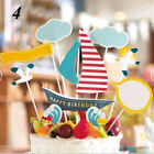 Children Kids Party Decoration Happy Birthday Baby Shower Cake Topper Flags