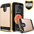For LG Stylo 3 / 3 Plus Phone Case, Shockproof Cover+Tempered Glass Protector