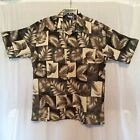 PRIMIER INTERNATIONAL SHORT SLEEVE BUTTON FRONT MULTI-COLOR SHIRT L 100% POLYEST