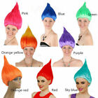 Troll Style Festival Party Colourful Elf/Pixie Cartoon Wig Characters Women US image