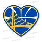 Golden State Warriors Heart Precision Cut  Decal / Sticker