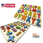 Wooden Alphabet & Number Puzzle For Toddlers Board Early Learning Toys 1 2 3 Age