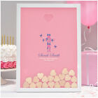 Christening Guest Book Girl PERSONALISED Christening Guestbook Alternative Frame