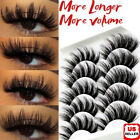 5pairs 3d natural false eyelashes long thick fake eye lashes makeup mink usa lo