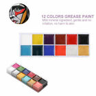 12 Color Face Body Paint Oil Painting Art MakeUp Set Halloween Party Fancy Dress