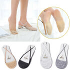 Summer Women Cotton Lace Invisible Socks Non-slip Half Feet Low Cut Short Socks
