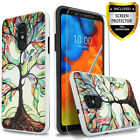 For LG K20 V Plus Shockproof Phone Case Cover+Tempered Glass Protector
