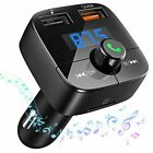 Victsing Wireless In-Car Bluetooth FM Transmitter MP3 Radio Adapter USB Charger
