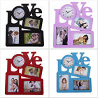 Love Design With 3 Photo Frame 36 x 30 cm Wall Clock Perfect Gift For Your Love