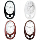 Oval Shape Pendulum Wall Clock For Home And Office Free Shipping