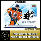 2018-19 UPPER DECK SPX HOCKEY - 5 BOX ( 1/2 CASE) BREAK #H379 - PICK YOUR TEAM - $10.0 CAD on eBay
