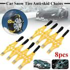 4/8pcs Car Tyre Winter Roadway Safety Tire Snow Adjustable Anti-skid Double Snap