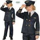 Childs Airline Pilot Fancy Dress Costume Jet Aeroplane Pilot Outfit New fg