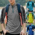 1x Unisex Outdoor Sports Quick-Drying Clothes Running Long sleeves Workout Shirt