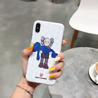 Kaws Couple Anatomy Cartoon Cute Soft Case For iPhone X XR XS Max 6 6s 7 8 Plus