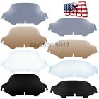 """Motorcycle 6""""/8"""" Wave Windshield Windscreen For Harley Touring FLHT FLHX 96-2013"""
