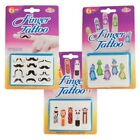 Finger Tattoos Assorted Colours