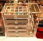 Glass Exclusive Jewellery Storage Box Organizer W Drawers Ring Necklace Earring