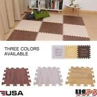 9pcs Imitation Wood Soft Foam Floor Mats Gym Exercise Garage Home Kids Play Pads