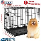 """48"""" 42"""" 36"""" 30"""" 24"""" 18"""" Pet Dog Folding Cage Extra Large Dog Cat Crate Metal US <br/> 🔥 Steel Material🔥100% High Quality🔥1 Year Warrantly"""