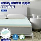 "2"" 3"" 4"" Inch Bamboo Cooling Gel Memory Foam Mattress Topper - Full Queen King image"