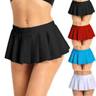 Womens Pleated Mini Skirt Schoolgirl Micro Kilt Skirt Cosplay Costume Plus Size