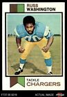 1973 Topps #199 Russ Washington Chargers EX $0.99 USD on eBay