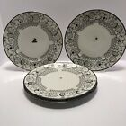 Saint Graal Intimate Limoges 4 Dinner Plates Sterling Silver Overlay Argent