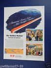 1947 THE GOLDEN ROCKET CHICAGO - LOS ANGELES SUTHERN PACIFIC TRAIN TRAVEL ART AD