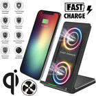 Qi Wireless Charger Pad Stand Holder Fast Charging Dock For iPhone 8 Plus XS XR