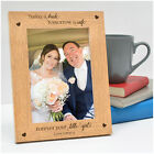 Personalised Father of the Bride Dad Wooden Photo Frame Gifts from Daughter