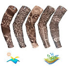 Sports Tattoo Cooling Sleeves Fake Temporary Arm Stockings UV Sun For Women Men