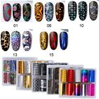 10 Rolls/Box Nail Art Transfer Stickers Mix-Color Nail Foil Nail Wraps Accessory