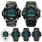SMAEL Men Sport Watches Fashion Outdoor Chronograph LED Digital Boys Wristwatch image