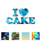 Home Decoration Tv Show I Love Cake Heart - Vinyl Decal Sticker - Multiple Patterns & Sizes - Ebn3454 Earth Tone Home Decor