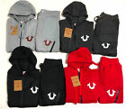 NEW True Religion Mens Sweat Suit Joggers Full Set Hoodie + Pants Free Shipping