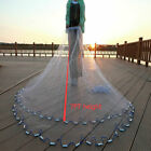 Saltwater Fishing Cast Net for Bait Trap Dia 8ft/12ft/14ft Easy Throw Sink Fast