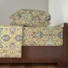 Ottoman Turkish Damask Persian 100% Cotton Sateen Sheet Set by Roostery image