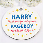 PERSONALISED Page Boy Ring Bearer Usher Ring Security Thank You Plaque Gifts