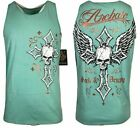 ARCHAIC by AFFLICTION Mens T-Shirt FARGO Tank Top Skull Wings MMA Biker GYM  $40 image