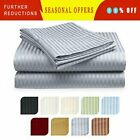 Deep Pocket 6 Piece Bed Sheet Set 1800 Count Egyptian Comfort Sheets, Striped image