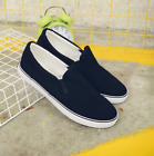 Men's Canvas Shoes Slip On Flat Sports Sneakers US4.5-US10.5 Shoes Loafers Zsell