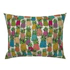 Pineapple Tropical Home Decor Fruit Pillow Sham by Roostery image